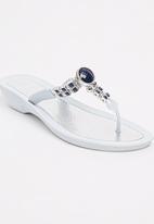 41878a3843bf Jeweled Comfort Sandals. White Queenspark Sandals   Flip Flops ...