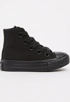 SOVIET - High Top Mono Sneaker Black