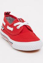 TOMY - Infants Lace Canvas Red