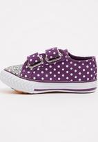 TOMY - Infants Velcro Strap Sneaker Mid Purple