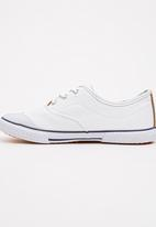 TOMY - Infants Lace Canvas White
