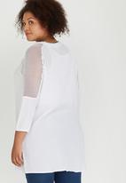 edit Plus - Mesh Inset Tunic White