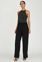 ONLY - High-Neck Sequin Jumpsuit Black