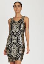 ONLY - Short Sleeve Sequin Dress Gold