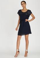 ONLY - Sequin Detail Babydoll Dress Navy