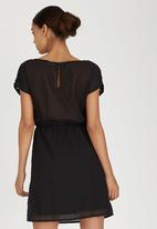 ONLY - Sequin Detail Babydoll Dress Black