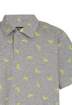 POP CANDY - Boys Printed  Golfer Grey
