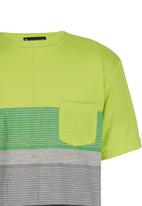 POP CANDY - Boys  Stripe   Tee Light Green