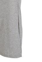 Rebel Republic - Maxi Skirt with Side Slits Grey Melange