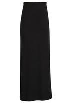 Rebel Republic - Maxi Skirt with Side Slits Black