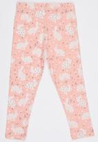 POP CANDY - Girls Printed Leggings Mid Pink