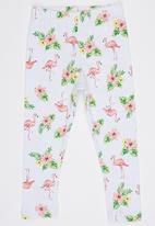 POP CANDY - Cropped Printed Leggings Mid Pink