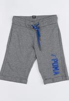 PUMA - STYLE Sweat Shorts Medium Gray Heather Grey