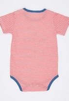 POP CANDY - Printed Strped Bodysuit Red