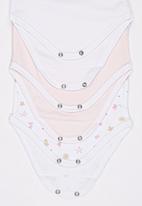 Baby Corner - 3 Pack Athlete Flower Bodysuit Multi-colour