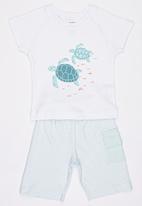Baby Corner - Turtle  T-Shirt Short Set Multi-colour