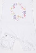 Baby Corner - Flower Crown Frilly Short Sleepsuit  Multi-colour