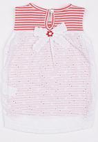 POP CANDY - Printed Stripe Vest Red