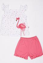 POP CANDY - Printed Top And Short Set Multi-colour