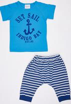 POP CANDY - Set Sail 2 Piece Set Blue and White