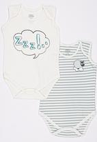Baby Corner - 2 Pack Sleeveless Sheep Bodysuit  Multi-colour