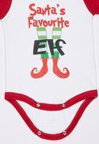 Funky Shop - Santas Favourite Elf Bodysuit White