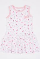 Baby Corner - Flamingo Patterned Dress White