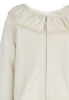 See-Saw - Frill Collar Jacket Stone