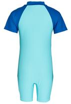 POP CANDY - Boys Printed Swim Set Blue