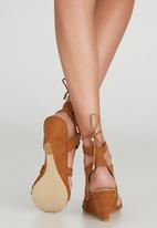 Billini - Fillie Lace-up Wedges Tan