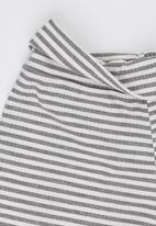 Rebel Republic - Stretchy Fold Over Shorts Grey