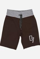 See-Saw - Applique Shorts Mid Brown