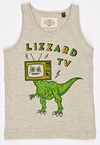 Lizzard - Printed Dinosaur Vest Grey