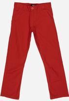 POP CANDY - Boys Twill Pants Dark Red