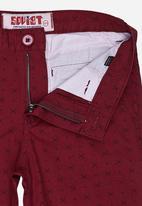 SOVIET - Printed Cotton Short  Dark Red