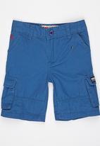 SOVIET - Cargo Shorts Mid Blue