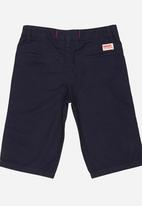 SOVIET - Cotton Short With Turn Up Navy