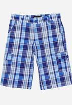 POP CANDY - Check Short Blue