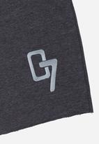 Rebel Republic - Applique Shorts Grey
