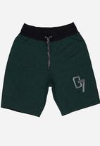 Rebel Republic - Applique Shorts Green