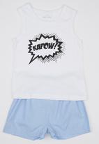 See-Saw - Kapow PJ set Pale Blue