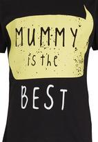 Soobe - Mummy Is The Best Tee Black