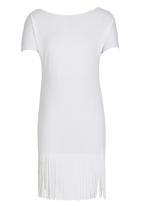 Rebel Republic - Fringe Dress White