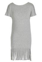 Rebel Republic - Fringe Dress Grey Melange