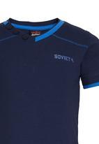 SOVIET - V-Neck  Tee Blue