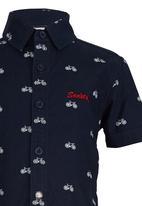 SOVIET - Printed Shirt Navy