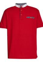 Retro Fire - Chinese Collar Golfer Red
