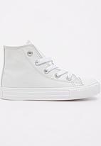 SOVIET - High Top  PU  Sneaker White