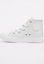 SOVIET - High top pu sneaker - white