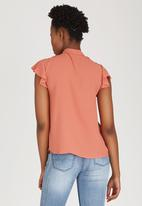 c(inch) - Kitty Bow Blouse Coral